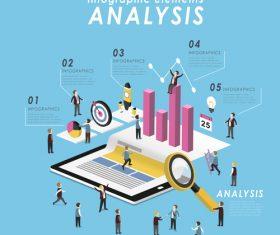Flat analysis Illustratio vector