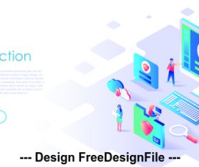 Flat illustration data protection vector