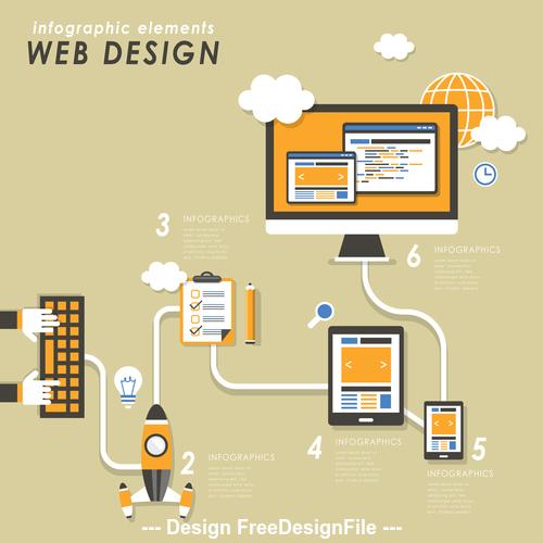 Flat web design Illustration vector