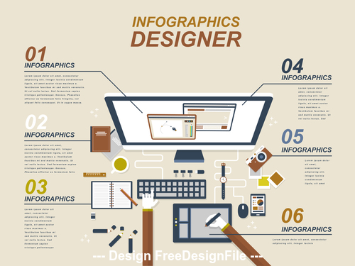 Flat website design illustration vector