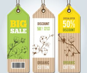 Flower background sale tag vector