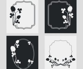 Flower decoration vertical frames vector 01