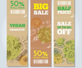 Food banners card vector