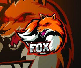 Fox mascot logo vector design