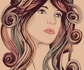 Framed hair vector