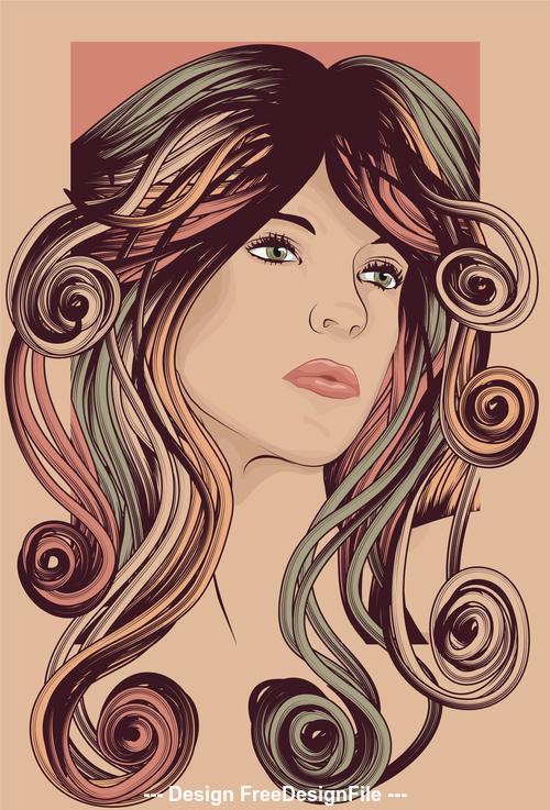 Framed hair vector
