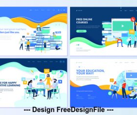 Free online courses vector concept illustration