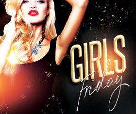 Friday Girls Flyer PSD Template