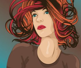 Funky hair vector