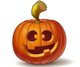 Funny pumpkins halloween vector