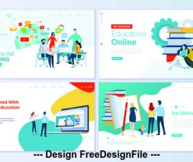Get started with online education vector concept illustration