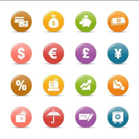 Glossy buttons Icon vector
