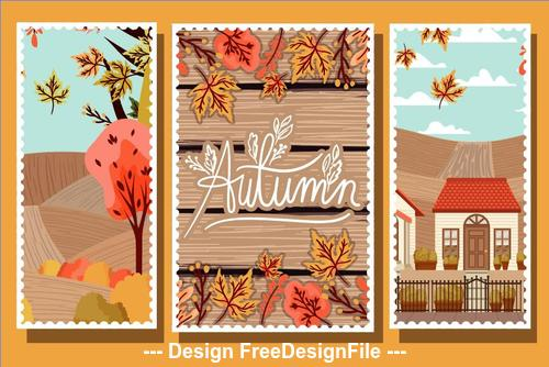 Golden autumn vector