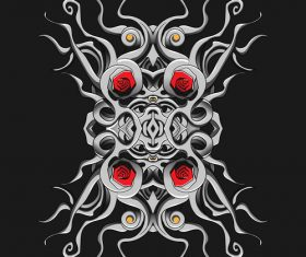 Gothic art style pattern vector