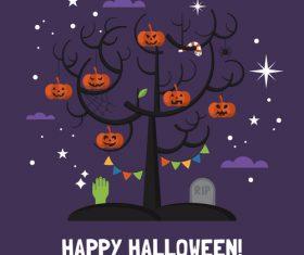 Graphic design happy halloween vector