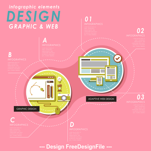 Graphic web design Illustratio vector