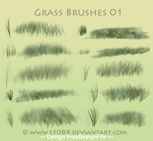 Grass Hand Drawn Photoshop Brushes