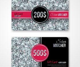 Gray VIP gift card vector