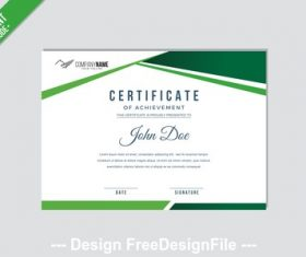 Green border a4 mode certificate vector