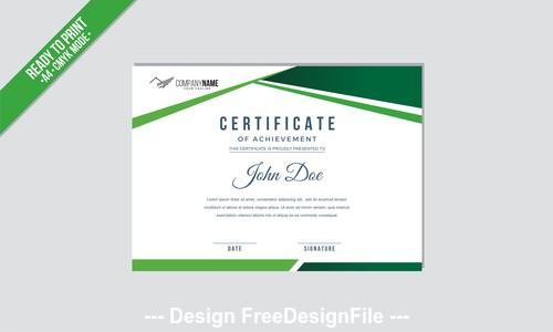 Green border a4 mode certificate vector