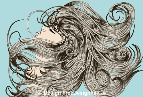 Hair flip vector