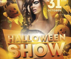Halloween Show Flyer PSD Template