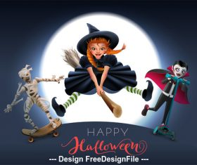 Halloween cartoon character vector