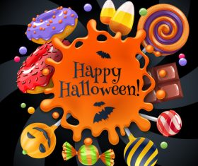 Halloween food vector