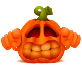 Halloween pumpkin shape vector