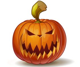 Halloween scary pumpkin vector