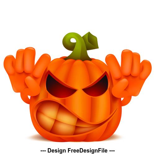 Halloween scary pumpkin vector