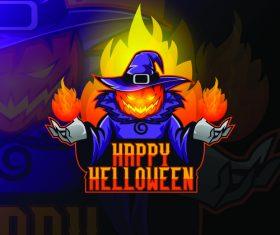 Halloween wizard vector