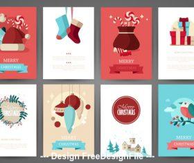 Happy christmas brochure vector