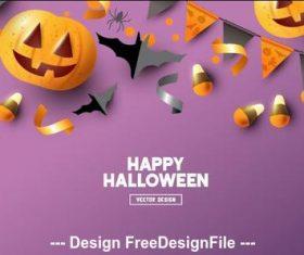 Happy halloween bunting decoration illustration vector