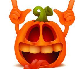 Happy halloween pumpkin vector