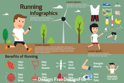 Healthy exercise vector