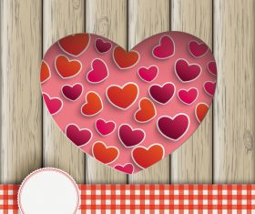 Heart Hole With Hearts Wood vector