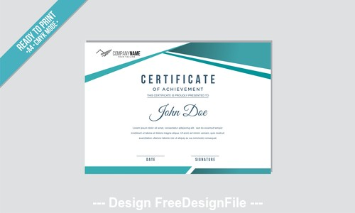 High quality a4 mode certificate vector