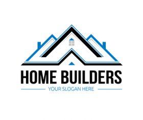 Home builders logo vector