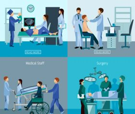 Hospital therapists vector