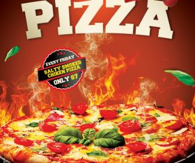 Hot Pizza Flyer PSD Template