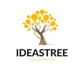 Ideas tree logo vector