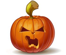 Illustration halloween pumpkins angry vector
