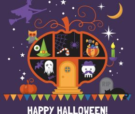 Illustration happy halloween vector