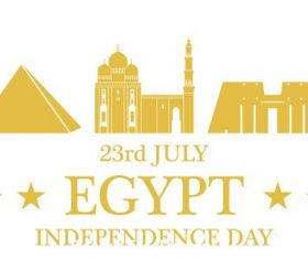Independence Day Egypt vector