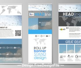 Information banner roll-up design vector