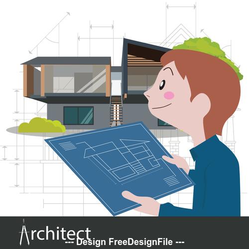 Interior designer vector