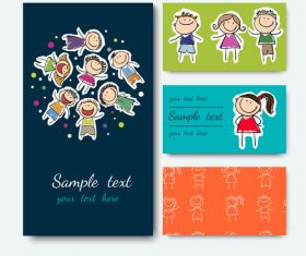Kids card vector