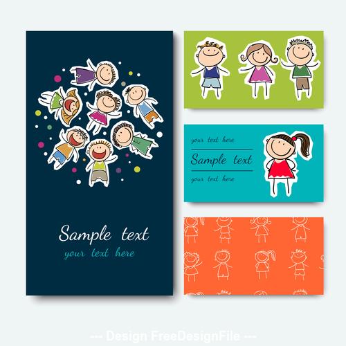 Kids card vector