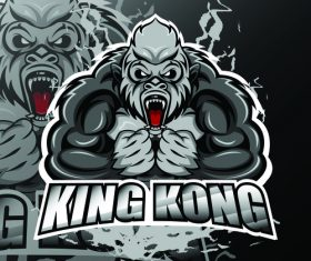 King kong logo vector design
